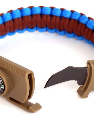 hnědo-modrý taktický náramek